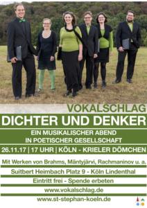 Plakat Dichter und Denker